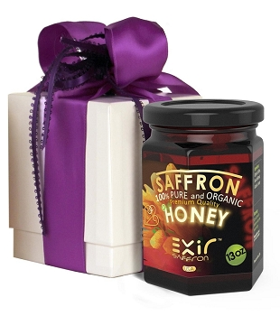 Exir Honey + Saffron Gift Box 13-ounce | A luxurious gift for any connoisseur