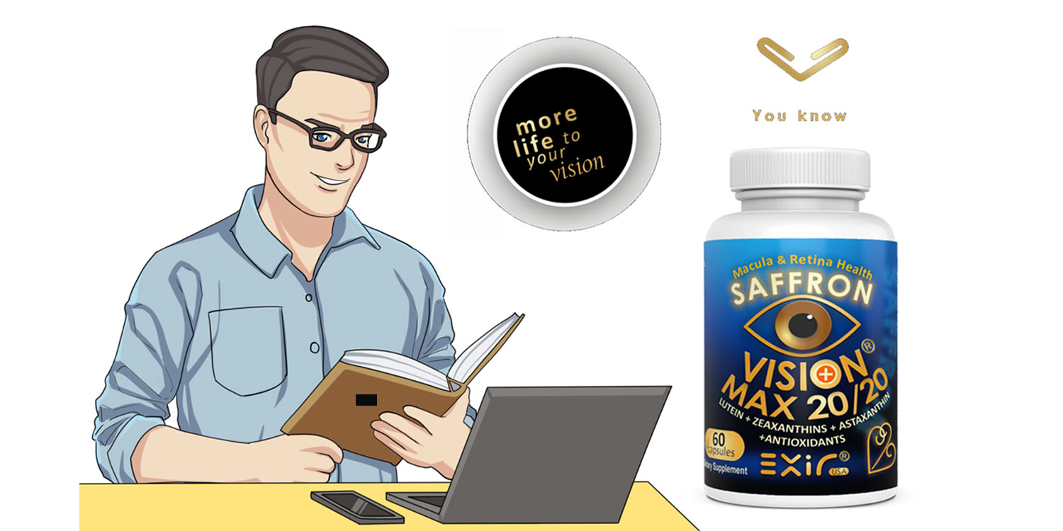 Computer vision digital eye strain supplement vision max 20/20