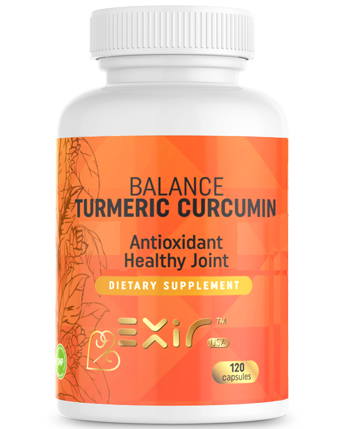 Joint Support & Inflammation Pain Relief, Prostate Health, Strong Immune System, Balance Turmeric Curcumin Supplement, 120 Capsules