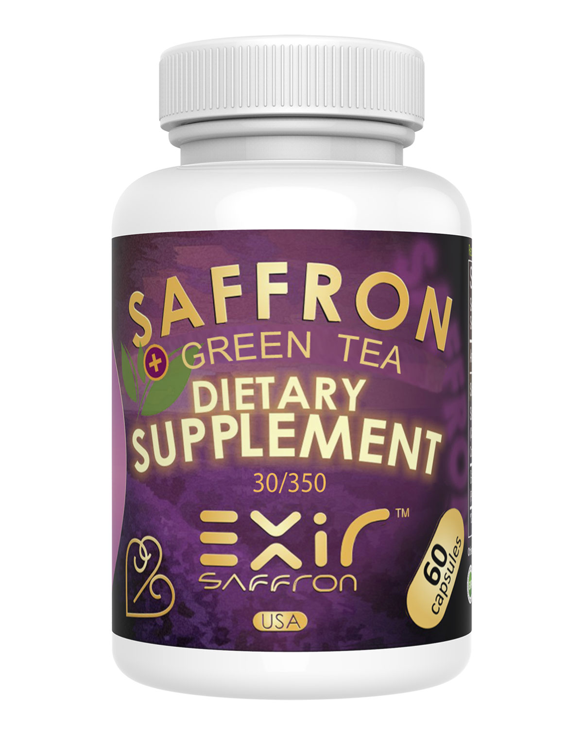 Heart & Cardiovascular Health Supplement  Saffron 30-mg, 60 Capsules