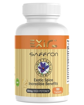Saffron + Saffron Extract Supplements, 180 Tablets or Capsules