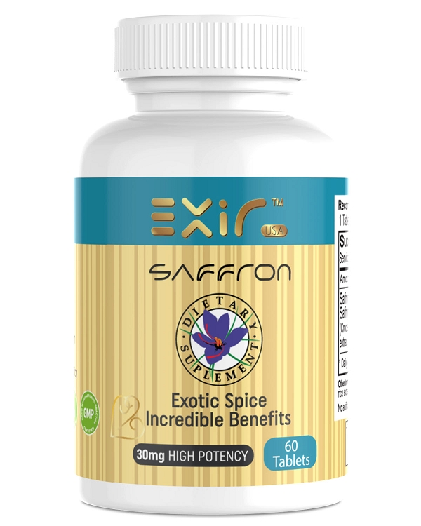 Saffron Saffron Extract Supplement 60 Tablets Exir Saffron