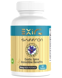 Saffron + Saffron Extract Supplement.  60 Tablets