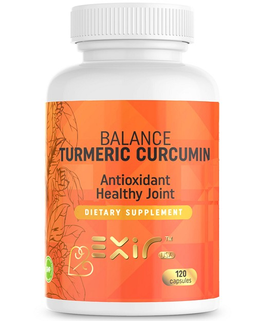 Turmeric Curcumin with Piperine Coriander, Fennel Extracts,120 Capsules